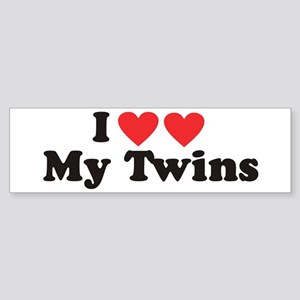 I Heart My Twins - Twin Bumper Sticker