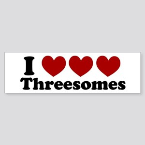 Heart Heart Heart 3somes Bumper Sticker