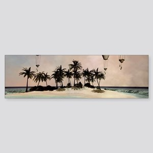 Wonderful tropical island with ballons Bumper Stic