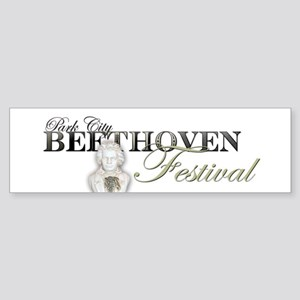 Beethoven Festival Art Logo with Lu Bumper Sticker