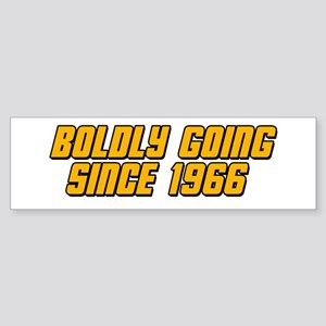 Boldly Going Since 1966 Sticker (Bumper)