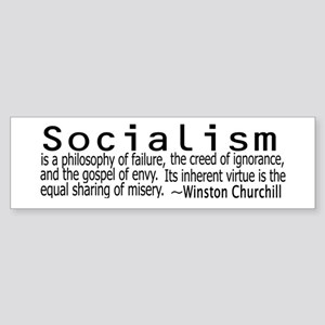 WINSTON CHURCHILL SOCIALISM Sticker (Bumper)