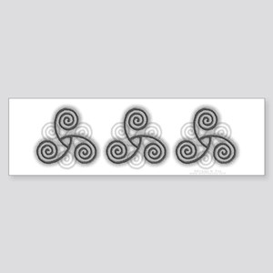 Celtic Triple Spiral Sticker (Bumper)