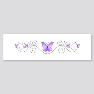 Purple Butterflies Bumper Sticker