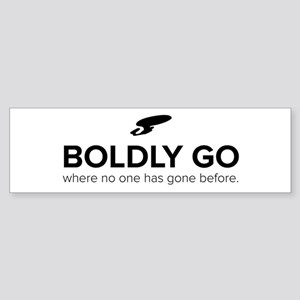 Boldly Go Star Trek Bumper Sticker