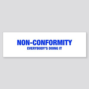 NON-CONFORMITY-HEL-BLUE Bumper Sticker