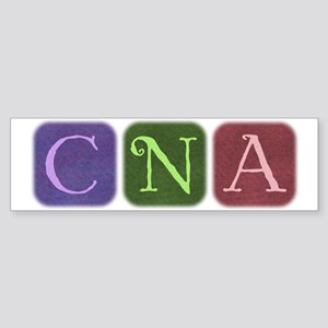 CNA Denim Look Squares Bumper Sticker
