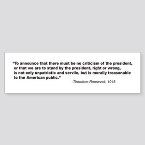 T Roosevelt on criticism Bumper Sticker