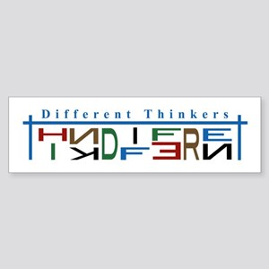 Different Thinkers Bumper Sticker