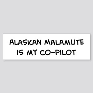 Co-pilot: Alaskan Malamute Bumper Sticker