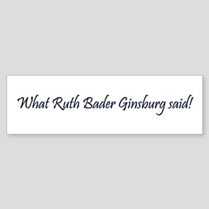 What She Said Bumper Sticker