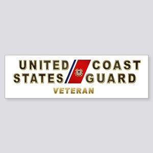 USCG Veteran Bumper Sticker