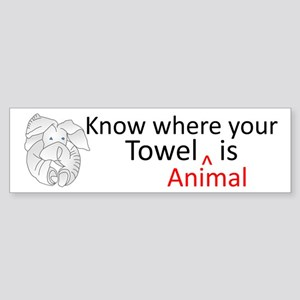 Towel Animal Sticker (Bumper)
