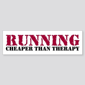 Running therapy red Sticker (Bumper)