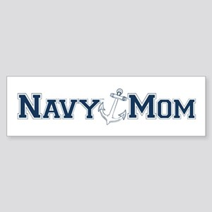 Navy Mom (with anchor) Bumper Sticker