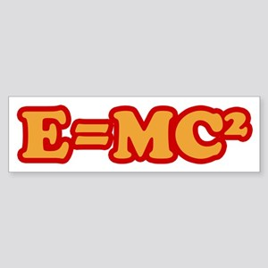 E=MC2 Bumper Sticker