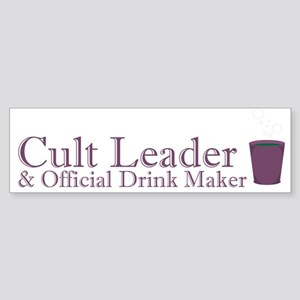 Cult Leader Sticker (Bumper)