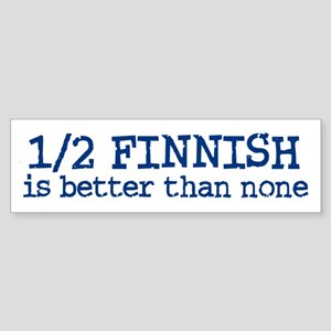 Half Finnish Bumper Sticker