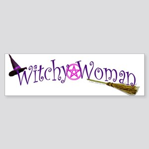Witchy Woman Sticker (Bumper)