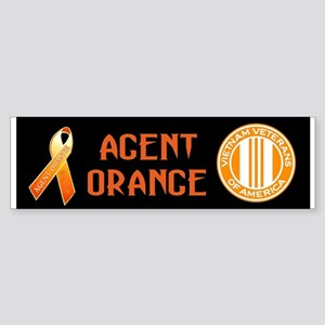We Care Orange Ribbon Sticker (Bumper)