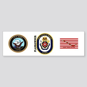 USS Little Rock Plank Owner Sticker (Bumper)