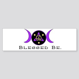 Purple Goddess Symbol Bumper Sticker