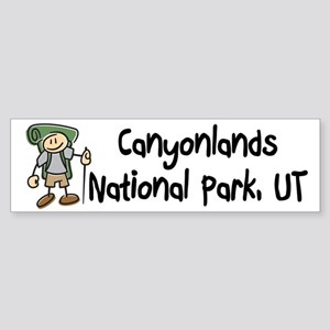 Hike Canyonlands (Boy) Sticker (Bumper)