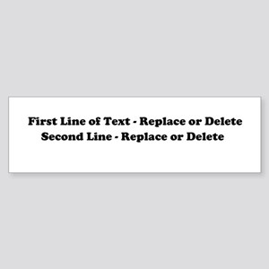 2 Line Text Personalization Sticker (Bumper)