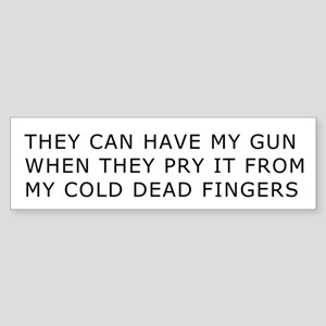 Cold Dead Fingers Bumper Sticker