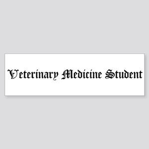 Veterinary Medicine Student Bumper Sticker