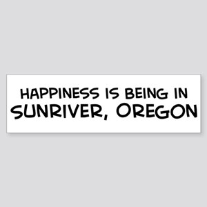 Sunriver - Happiness Bumper Sticker