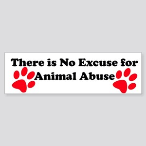 No Excuse-red Bumper Sticker