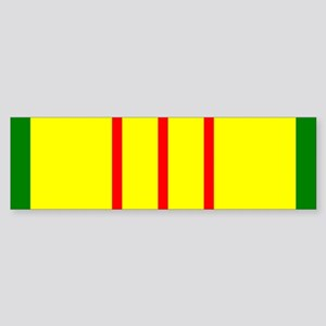 Vietnam Veteran Ribbon Bumper Sticker
