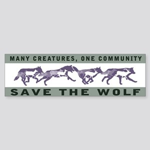 Wolf Conservation Bumper Sticker