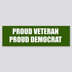 Proud Veteran - Proud Democrat Sticker (Bumper)