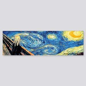 Van Gogh and Munch Bumper Sticker
