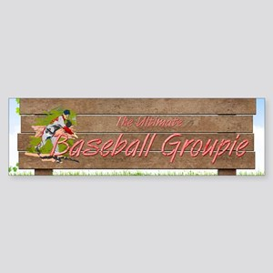 Baseball Groupie Sticker (Bumper)