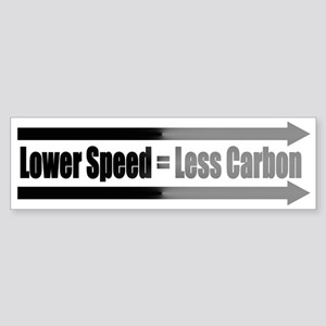 LOWER SPEED = LESS CARBON (bumper stickler)