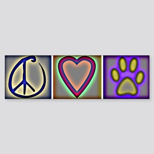 Peace Love Dogs (ALT) - Bumper Sticker