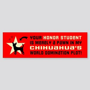 Chihuahua Honor Student Bumper Sticker