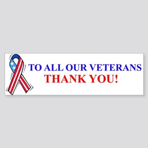 Thank You Vets Bumper Bumper Sticker