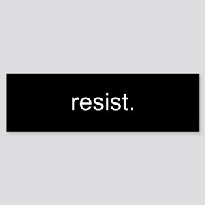 resist - Black Sticker (Bumper)