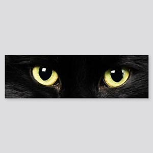 Black Cat Eyes Sticker (Bumper)