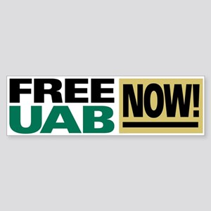 """FREE UAB NOW!"" Sticker (Bumper)"