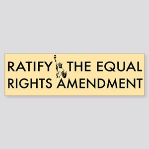 Equal Rights Amendment Sticker (Bumper)