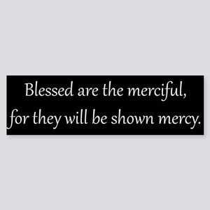 Mercy, White on Black, Beatitudes