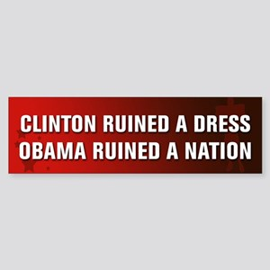 Obama Ruined A Nation Sticker (Bumper)