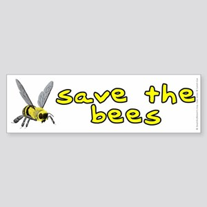 Save the bees - Sticker (Bumper)
