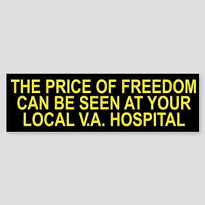 Thank a Veteran! - Price of Freedom Bumper Sticker