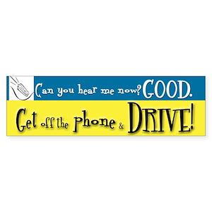 Anti Driving w/ Cell Phone Bumper Sticker